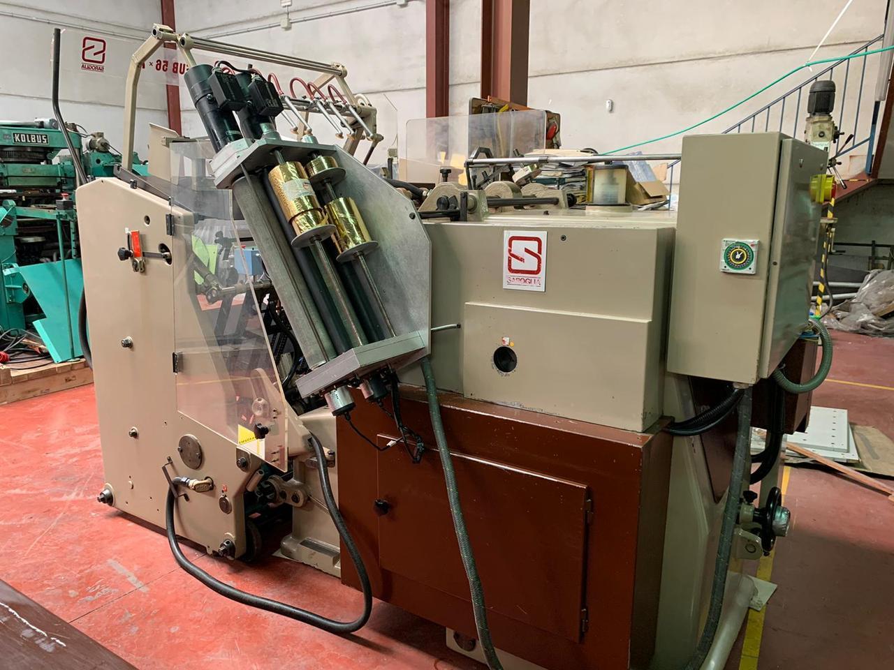 Автоматический пресс высечки и тиснения SAROGLIA FUB 74х56, В2