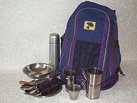 Набор посуды, рюкзак-сумка на 2 персоны с термосом