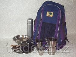 Набор туристической посуды, рюкзак-сумка на 2 персоны с термосом, нержавеющая сталь