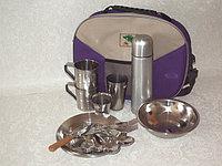 Набор посуды, кейс на 2 персоны с термосом