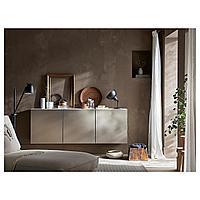 БЕСТО Комбинация настенных шкафов, белый, риксвикен под светлую бронзу, 180x42x64 см, фото 1