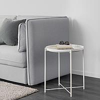 ГЛАДОМ Стол сервировочный, белый, 45x53 см, фото 1