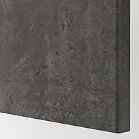 КЭЛЛЬВИКЕН Фронтальная панель ящика, темно-серый под бетон, 60x26 см