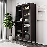 РЕЖИССЁР Шкаф-витрина, коричневый, 118x203 см, фото 1