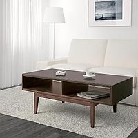 РЕЖИССЁР Журнальный стол, коричневый, стекло, 118x60 см, фото 1