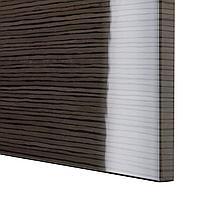 СЕЛЬСВИКЕН Дверь/фронтальная панель ящика, глянцевый с рисунком коричневый, 60x38 см