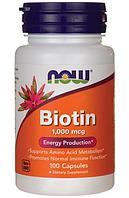 Специальные Добавки Biotin 1000 mcg, 100 caps.