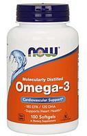 Специальные Добавки  Omega-3 1000 mg, 100 softgels.