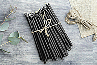 Свечи Монастырские черные цена от 85 тенге за 1 шт горят 2.30 мин  Длина свечи 295мм, фото 1