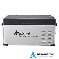 Холодильник автомобильный 12/24 вольт от прикуривателя автомобиля Alpicool C25 (25 л.) 12-24-220В черный