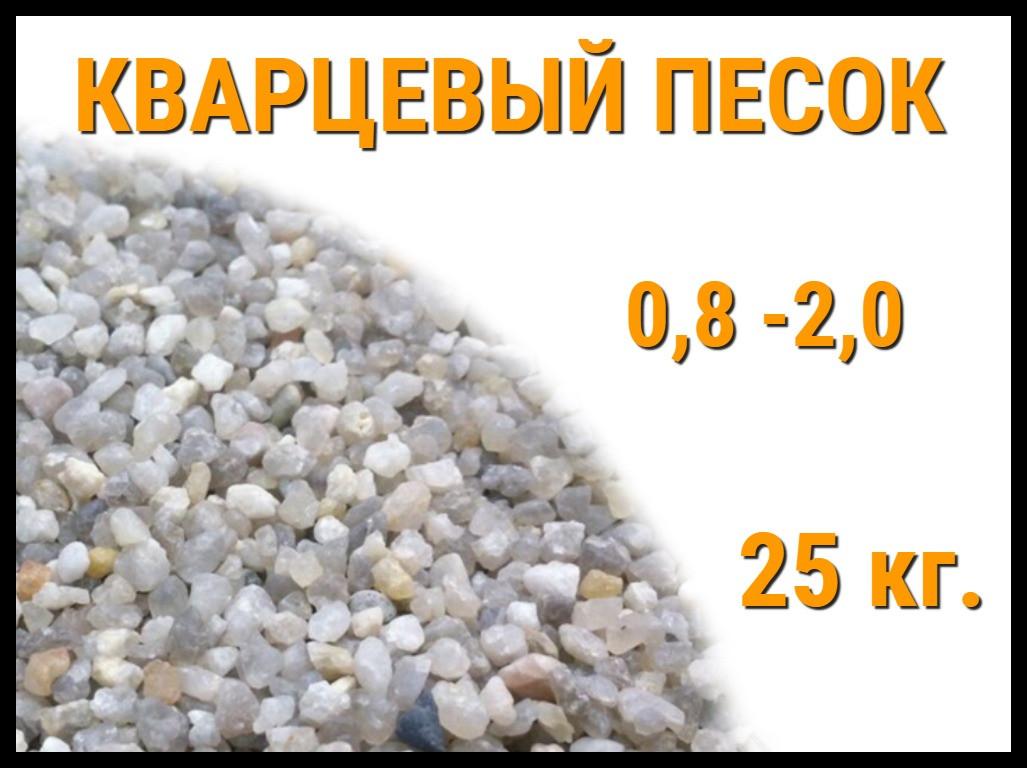 Кварцевый песок для фильтра бассейна 25 кг. (фракция 0,8-2,0 мм)