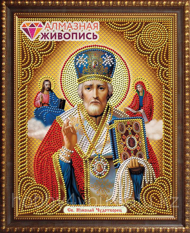 """Картина стразами """"Икона Николай Чудотворец"""", 22*28см"""