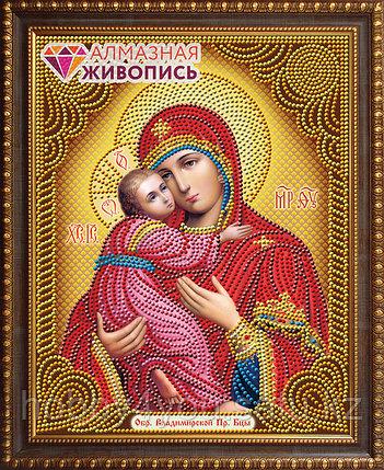 """Картина стразами """"Икона Владимирская Богородица"""", 22*28см, фото 2"""