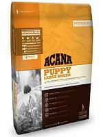 Беззерновой корм Acana Puppy Large Breed для щенков, крупных пород (Цыпленок и Рыба) - 17 кг