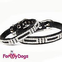 Ошейник ForMyDogs для собак, черный, 26см