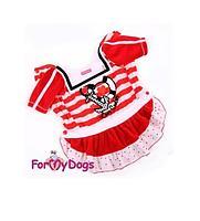 """Платье ForMyDogs """"Морячка """"для собак (Красный) - 10 р"""