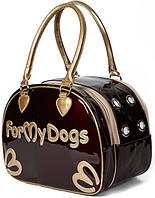 Сумка-переноска для собачек лаковая, For my Dogs