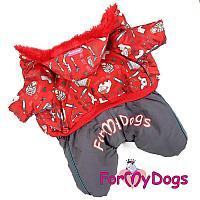 Комбинезон ForMyDogs для мальчиков (Красный) - 21-27 см