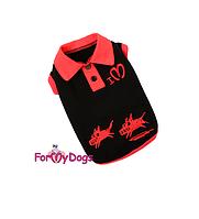 Поло ForMyDogs для собак (Черный) - 8 р