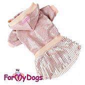 Платье ForMyDogs для собак (Розовый) - 21-27 см