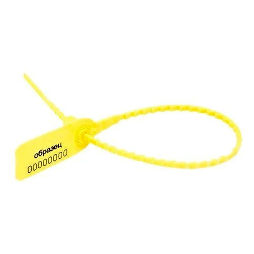 Пломба пластиковая Оптима стандарт (желтый)