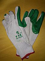 Перчатки трикотажные с рифленым латексным покрытием   (КИРПИЧ)