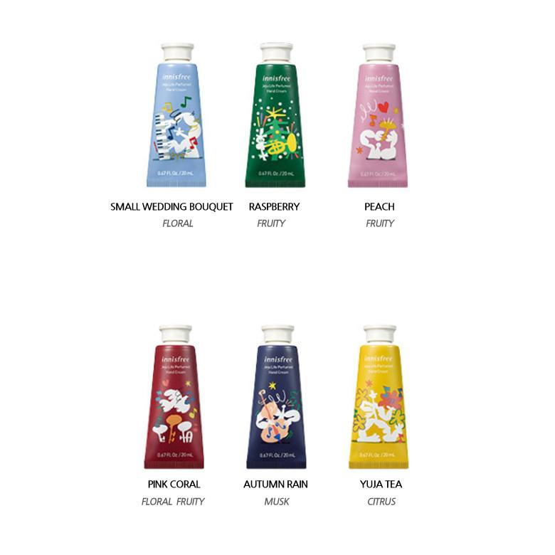 Крема для рук из лимитированной коллекции Innis Free Perfumed Hand Cream Miniature
