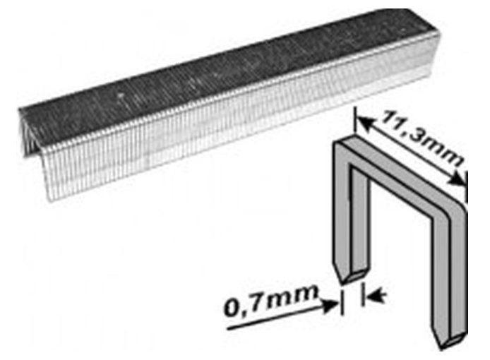 Скобы для степлера закаленные усиленные узкие (тип 53), 6мм, 1000шт /31326/