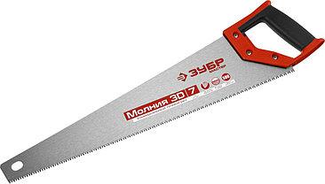 Ножовка по дереву (пила) ЗУБР Молния, рез вдоль и поперек волокон, 500 мм, 7 TPI, фото 3