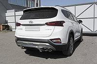 """Защита заднего бампера d57 """"скоба"""" Hyundai SANTA FE 2018-"""