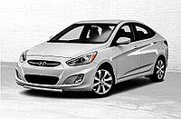 Защита переднего бампера d42 Hyundai Accent/Solaris