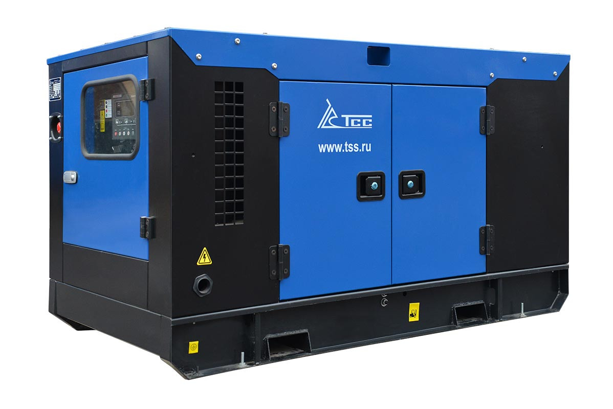Дизельный генератор ТСС АД-16С-Т400-1РКМ19 в шумозащитном кожухе