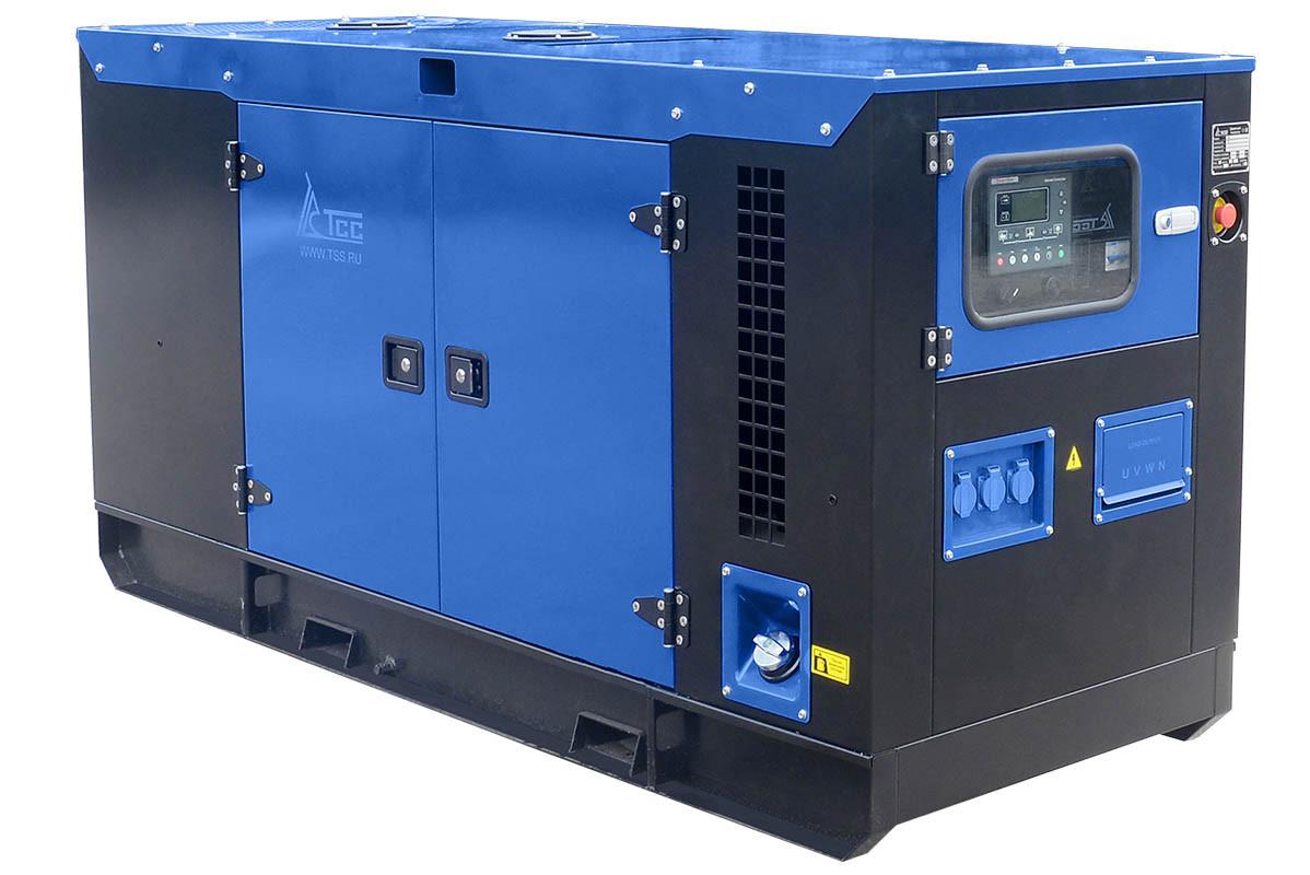 Дизельный генератор ТСС АД-20С-Т400-1РКМ5 в шумозащитном кожухе