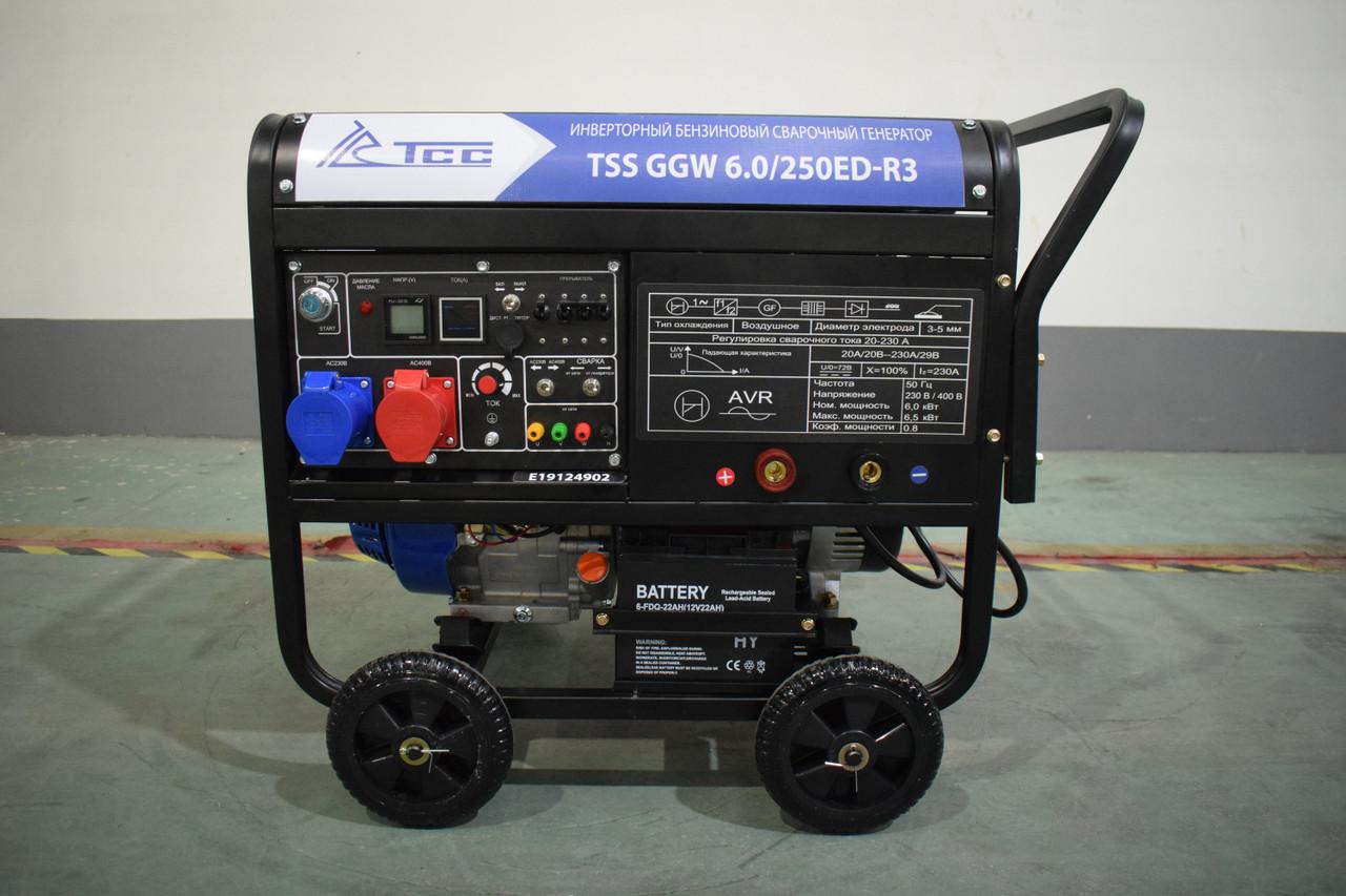 Инверторный бензиновый сварочный генератор TSS GGW 6.0/250ED-R3