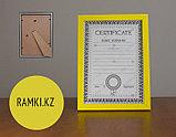 Рамка а3 прямая Желтая, рамки цветные и яркие, фото 2