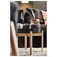 ЮППЕРЛИГ Журнальный стол, темно-серый, береза, 50 см, фото 1