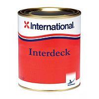 Нескользящая краска для палубы Interdeck, голубая, 0,75 л YJB923/750ML