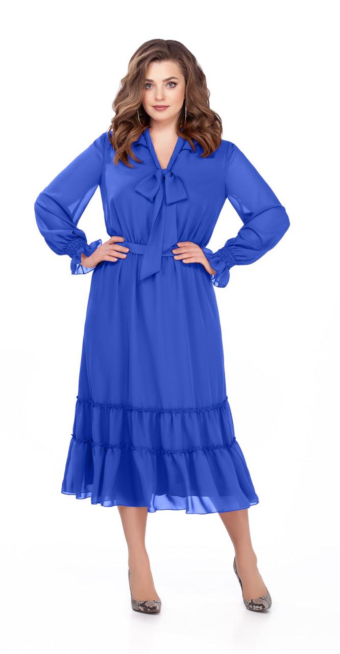 Платье TEZA-157/1, василек, 48