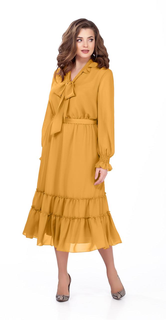 Платье TEZA-157/2, желтые тона, 48
