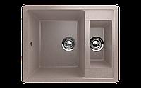 Мойка кухонная двухсекционная Eco Stone 600 x 485
