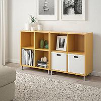 ЭКЕТ Комбинация шкафов с ножками, золотисто-коричневый, золотисто-коричневый, фото 1