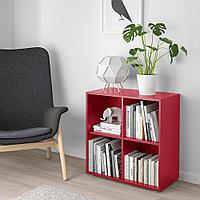 ЭКЕТ Комбинация шкафов с ножками, красный, 70x35x72 см, фото 1