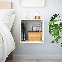 ЭКЕТ Навесной шкаф со стеклянной дверью, белый, 35x35x35 см, фото 1