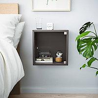 ЭКЕТ Навесной шкаф со стеклянной дверью, темно-серый, 35x25x35 см, фото 1