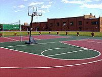 Бесшовное резиновое покрытие Баскетбольной площадки, толщина 12мм