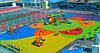Бесшовное резиновое покрытие Детской площадки, толщина 12мм, фото 5