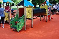 Бесшовное резиновое покрытие Детской площадки, толщина 12мм