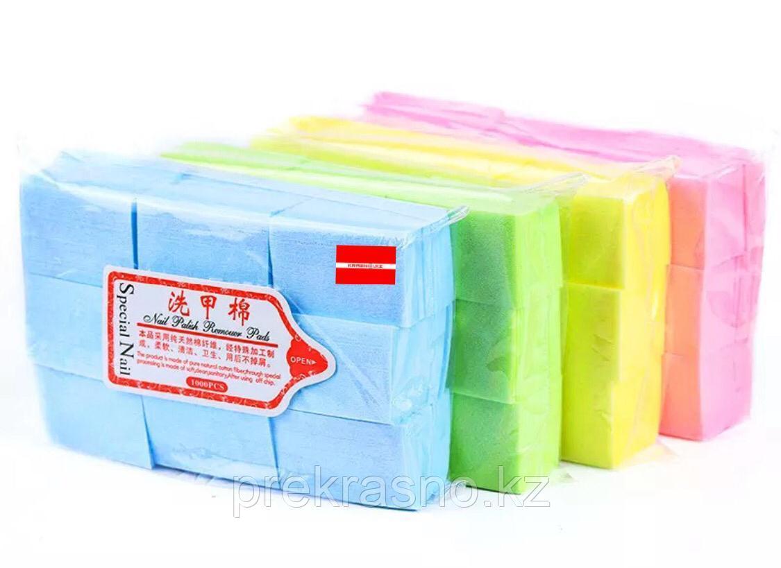 Салфетки 1000шт безворсовые цветные 6*4