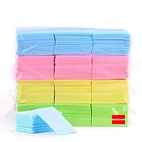 Салфетки 1000шт безворсовые цветные Boya
