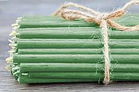 Свечи Восковые ЗЕЛЁНЫЕ цена от 13.5 тенге. Длина свечи 150мм